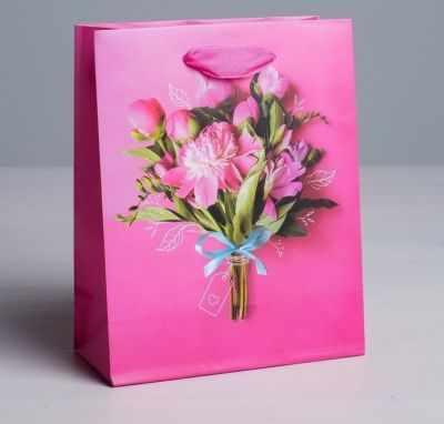Подарочный конверт Дарите Счастье 4569527 Пакет ламинированный вертикальный «Самой прекрасной», S