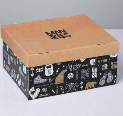 Подарочная коробка Дарите Счастье 4520893 Коробка складная «Брутальность» коробка подарочная mister christmas складная 15 5 х 19 5 х 6 5 см gh fb 1