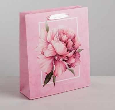 Фото - Подарочный конверт Дарите Счастье 4569564 Пакет ламинированный вертикальный «Пион», S подарочный конверт дарите счастье 4515296 пакет ламинированный вертикальный сильному духом