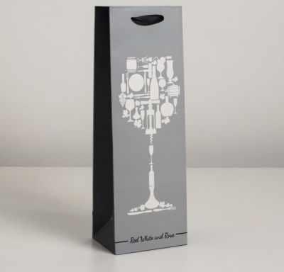 Подарочный конверт - 4637795 Пакет ламинированный под бутылку