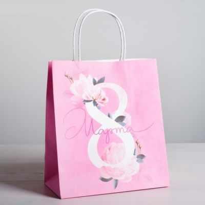 Подарочный конверт Дарите Счастье 4544684 Пакет подарочный крафт «8 Марта»