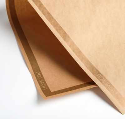 Бумага для упаковки подарков Дарите Счастье 4786442 Бумага крафт двухсторонняя «Золотой кант»