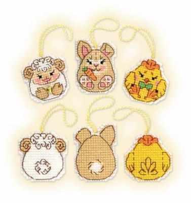 Набор для вышивания Риолис (Сотвори Сама) 1860АС Пасхальный кролик и его друзья сувенир пасхальный sima land ангелочек артист 3 5 х 7 3 х 9 см