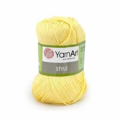 Пряжа YarnArt Пряжа YarnArt Style Цвет.656 Св.желтый