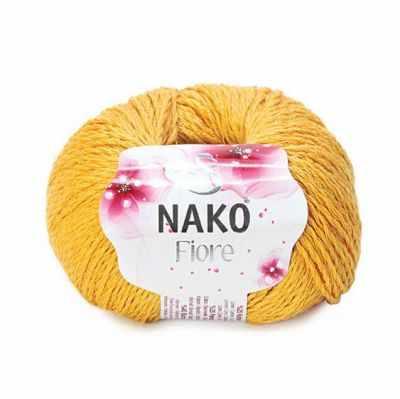 Пряжа Nako Пряжа Nako FIORE Цвет.11243 Жёлтый