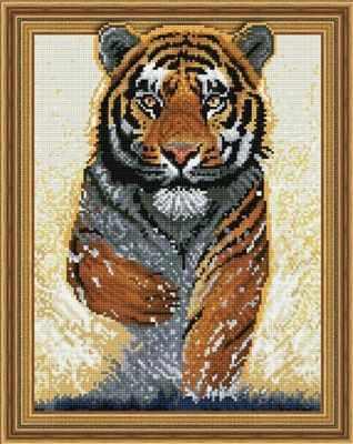 Набор для вышивания Molly Алмазная вышивка KM0089 Бегущий тигр