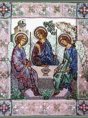Набор для вышивания иконы Образа в каменьях 7741 Святая Троица