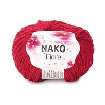 Пряжа Nako Пряжа Nako FIORE Цвет.3252 Красный