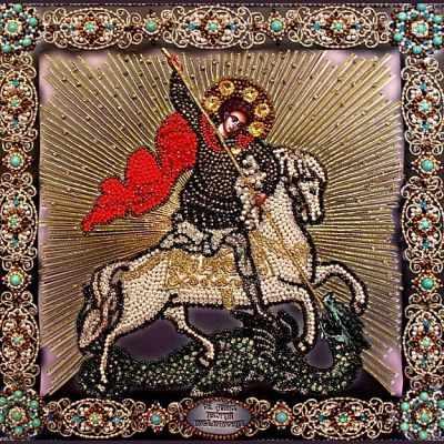 """7721 Георгий Победоносец (на коне) """"Образа в каменьях"""""""