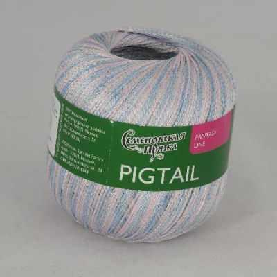 Пряжа Семеновская Pigtail Цвет.Бел-N001