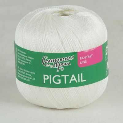 Пряжа Семеновская Пряжа Семеновская Pigtail Цвет.Белый