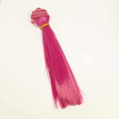 Заготовки и материалы для изготовления игрушки Pugovka Doll Волосы прямые фуксия, 15 см