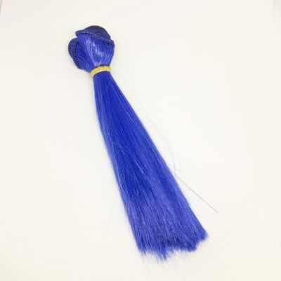 Заготовки и материалы для изготовления игрушки Pugovka Doll Волосы прямые василек, 15 см