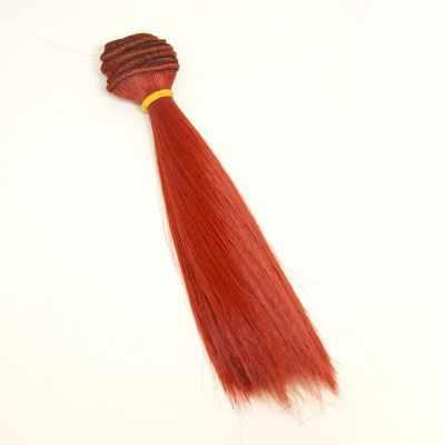 Заготовки и материалы для изготовления игрушки Pugovka Doll Волосы прямые кармин, 15 см