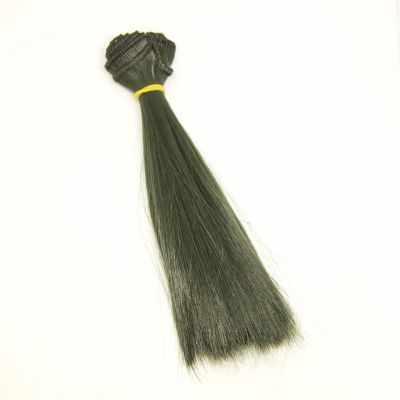 Заготовки и материалы для изготовления игрушки Pugovka Doll Волосы прямые болотный, 15 см