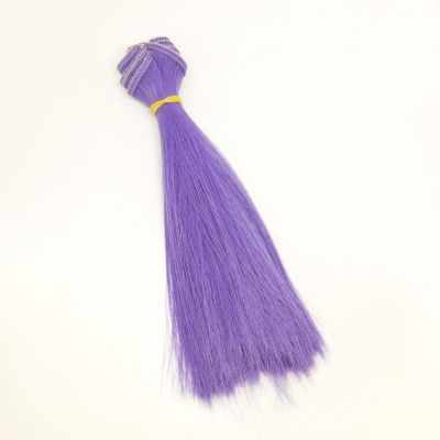 цена Заготовки и материалы для изготовления игрушки Pugovka Doll Волосы прямые светло фиолетовый, 15 см онлайн в 2017 году