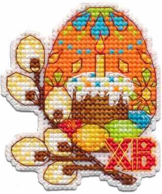 Набор для вышивания Овен 1289 Пасхальное яйцо декоративное пасхальное украшение на ножке home queen яйцо с лентой цвет красный высота 26 см 64174 2
