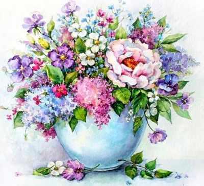 Набор для вышивания Цветной Алмазная вышивка lg147 «Нежные цветы в белой вазе» алмазная мозаика тм цветной нежные цветы в белой вазе 40x50 см