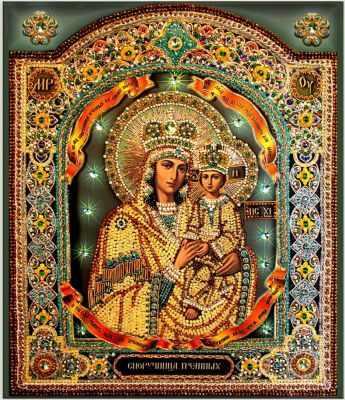 Набор для вышивания иконы Образа в каменьях 7722 Споручница грешных