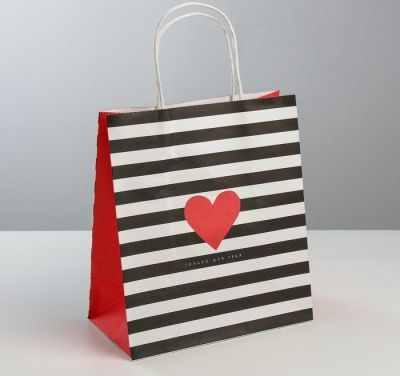 Подарочный конверт Дарите Счастье 3823492 Пакет подарочный крафт «С Любовью» пакет подарочный крафт 26 32 13 см бумага