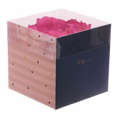 Фото - Подарочная коробка Дарите Счастье 3639710 Коробка для цветов с PVC крышкой Flowery подарочная коробка дарите счастье 3122698 складная коробка с днем рождения