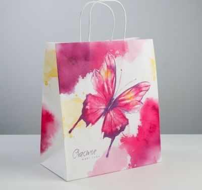 Подарочный конверт Дарите Счастье 3823509 Пакет подарочный крафт «Счастье ждёт тебя» пакет подарочный крафт 26 32 13 см бумага