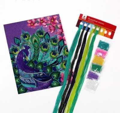 Набор для вышивания Школа талантов 4457137 Вышивка крестиком с бисером
