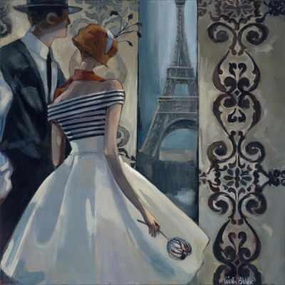 Набор для вышивания Collection D`Art DE7061 Весна в Париже - картина стразами набор для вышивания подушки collection d art 40 х 40 см 5018