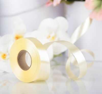 Ленты для упаковки подарков - 3920975 Лента для декора и подарков шампань, 2 см х 45 м