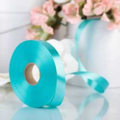 Ленты для упаковки подарков - 3920998 Лента для декора и подарков мятный, 2 см х 91 м