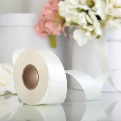 Ленты для упаковки подарков - 3920990 Лента для декора и подарков белая, 3 см х 45 м