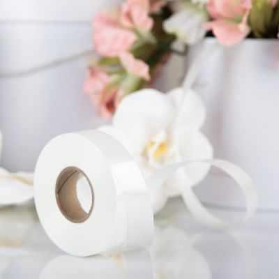 Ленты для упаковки подарков - 3920963 Лента для декора и подарков белый 2 см х 45 м