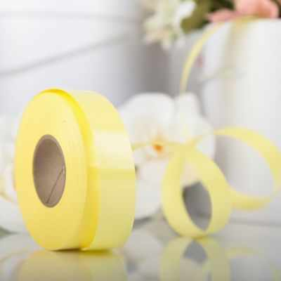 Ленты для упаковки подарков - 3920971 Лента для декора и подарков лимонный, 2 см х 45 м
