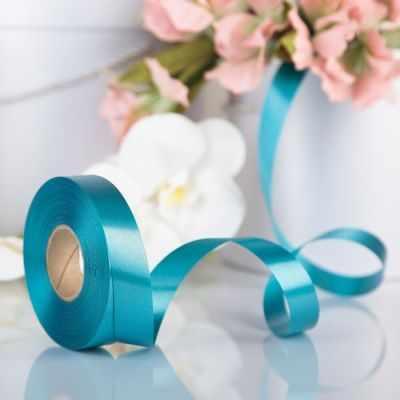 Ленты для упаковки подарков - 3920978 Лента для декора и подарков бирюзовый, 2 см х 45 м