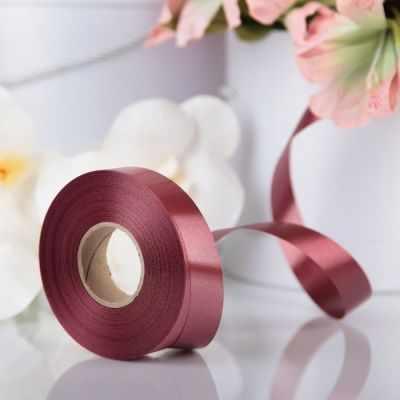 Ленты для упаковки подарков - 3920989 Лента для декора и подарков шоколад, 2 см х 45 м
