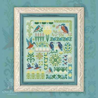 Схема для вышивания OwlForest 0080-ЗИ-С Зимородки