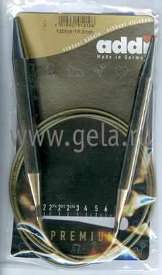 Инструмент для вязания ADDI 105-7/10-120 Спицы, круговые, супергладкие №10, 120см