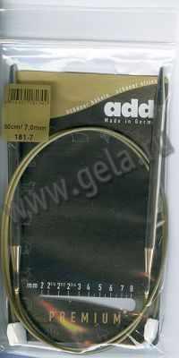 Инструмент для вязания ADDI 181-7/7-50 Спицы с фиксаторами на лесках, №7, 50 см