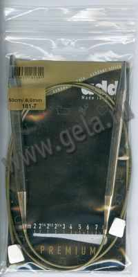 Инструмент для вязания ADDI 181-7/8-50 Спицы с фиксаторами на лесках, №8, 50 см
