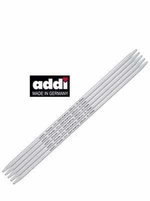цена на Инструмент для вязания ADDI 201-7/4-20 Спицы, чулочные, алюминий, №4, 20см