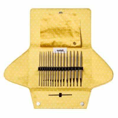 Инструмент для вязания ADDI 670-2/000 Набор круговых спиц со сменными лесками MIX, 8 разных размеров