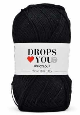 Пряжа DROPS Пряжа DROPS Love You 7 Цвет.02 black