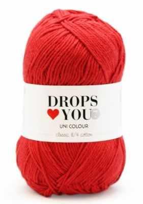 Пряжа DROPS Пряжа DROPS Love You 7 Цвет.16 red