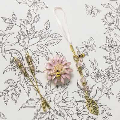 Наборы аксессуаров для вышивания - Набор аксессуаров. Пчела/розовый цветок