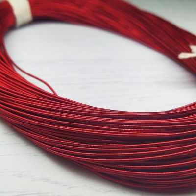Каталог Хрустальные грани КЖ010НН1 Канитель жесткая Красный 1 мм, 5 гр. +/- 0,1 гр.