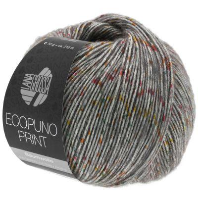 Пряжа LANA GROSSA ECOPUNO print Цвет.105 инструмент для вязания lana grossa спицы круговые lana grossa латунь 60 см 3 5