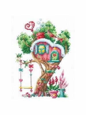 Набор для вышивания Сделай своими руками Д-21 Дома на деревьях. Сладкий