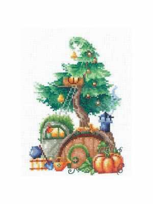 Набор для вышивания Сделай своими руками Д-22 Дома на деревьях. Щедрый