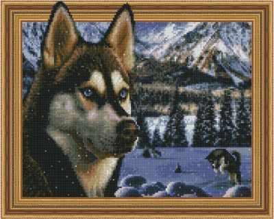 Набор для вышивания Molly Алмазная вышивка KM0194 В заснеженных горах