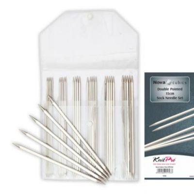 Инструмент для вязания Knit Pro 12362 Набор носочных спиц (2.0, 2.5, 3.0, 3.5&4.0mm) 15cm Nova Cubics KnitPro